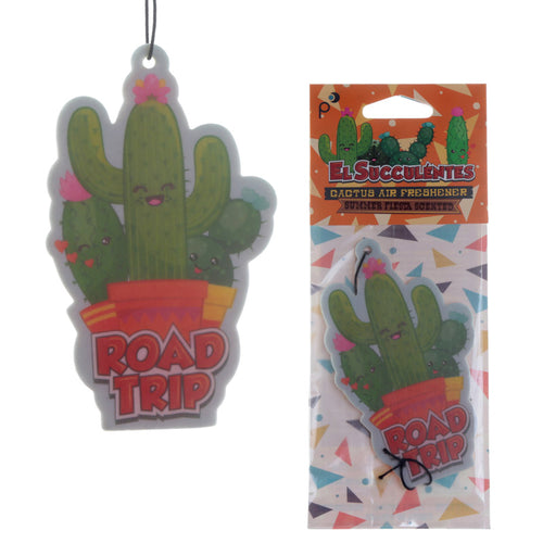 Novelty cactus design summer fiesta fragrance cactus shaped car air freshener.