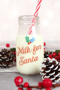 Santa's milk bottle Christmas Eve treat set.