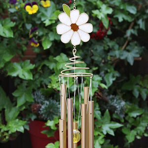 Daisy & Bee Spiral Windchime Ornament