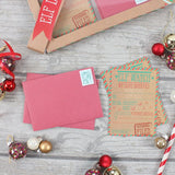 "Elf letter kit containing 12 ""Naughty or nice?"" elf watch letters to santa and 12 elf stamped red envelopes."
