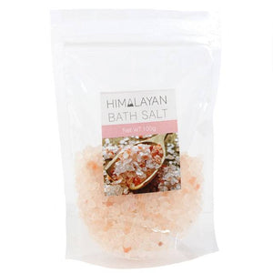 Himalayan rock salt 100g bag bath salt rock crystals for relaxing and detox bath. Eases aches and pains.