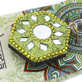 Karma Scents sparkly jewelled green Jasmine fragrance incense cone holder.