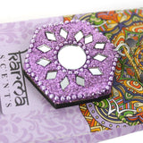 Karma Scents pack of 40 Lavender fragrance incense cones and purple sparkly cone incense holder.