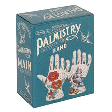Ceramic Old School Tattooed Palmistry Hand Ornament