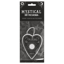 Ouija board planchette shape cherry scented car air freshener.