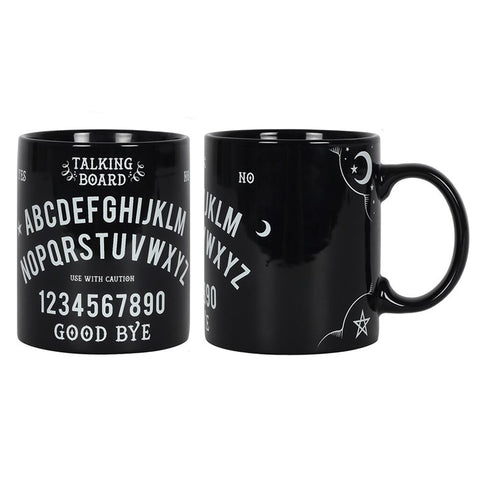 Occult ouija spirt talking board YES NO print black ceramic cup/mug