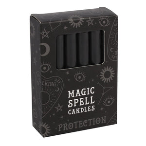 Pack of 12 Black Protection Spellcasting Candles