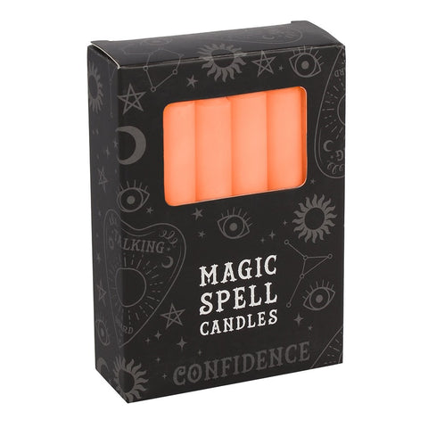Pack of 12 Orange Confidence Spellcasting Candles