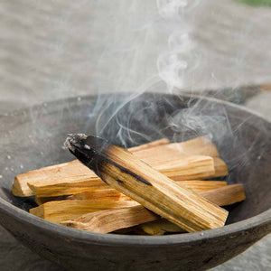 Loose thin cut Palo Santo Holy Wood smudging sticks