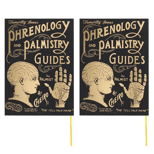 Temerity Jones Phrenology & Palmistry Guides by Cheiro black vintage style college/uni A6 notepads
