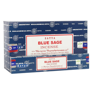 Satya Sai Baba Blue Sage incense 15g pack with approx. 12 sticks