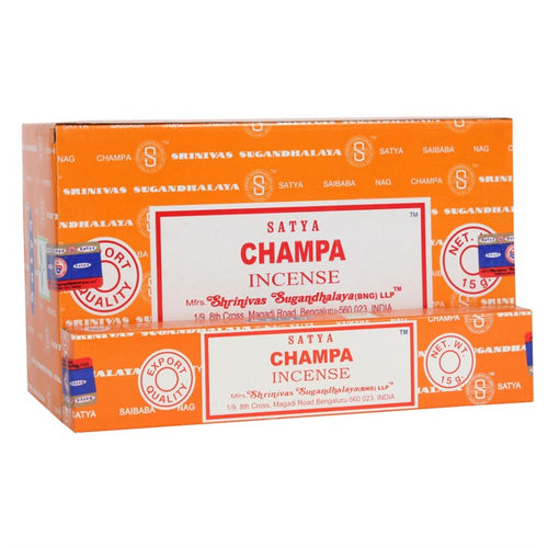 Satya Sai Baba Champa incense 15g pack with approx. 12 sticks