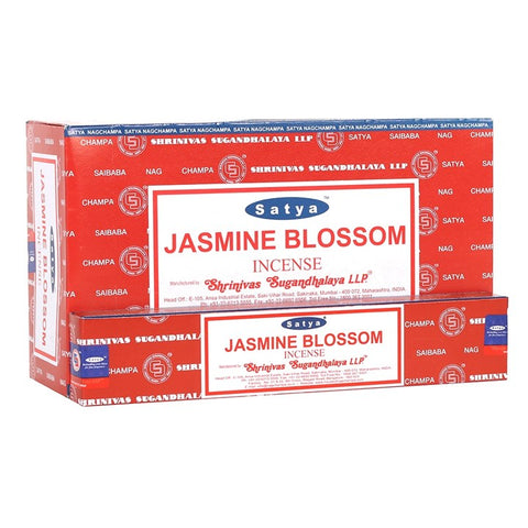 Satya Sai Baba Jasmine Blossom incense 15g pack with approx. 12 sticks