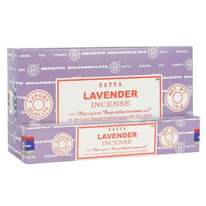 Satya Sai Baba Lavender incense 15g pack with approx. 12 sticks