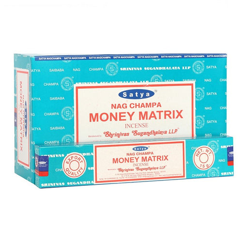 Satya Sai Baba Money Matrix incense 15g pack with approx. 12 sticks