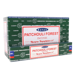 Satya Sai Baba Patchouli Forest incense 15g pack with approx. 12 sticks