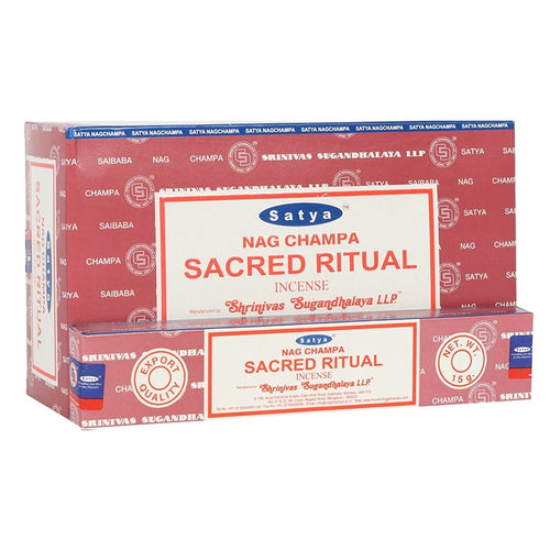 Satya Sai Baba Sacred Ritual incense 15g pack with approx. 12 sticks