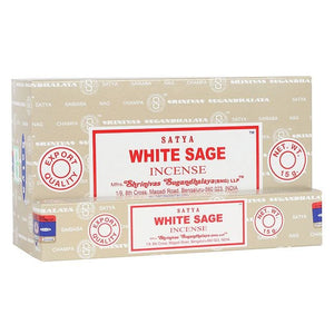 Satya Sai Baba White Sage incense 15g pack with approx. 12 sticks
