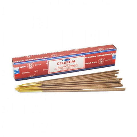 Genuine Satya Sai Baba Celestial incense sticks, 15g box.