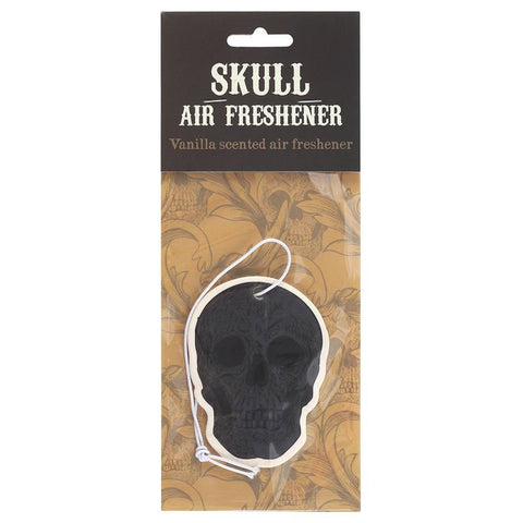 Skull shape vanilla scented car air freshener. Perfect goth gift for drivers