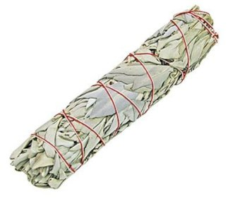 22cm White Sage smudge smudging stick for cleansing negative energy in Wiccan rituals