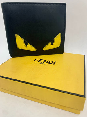 Fendi simple monster wallet