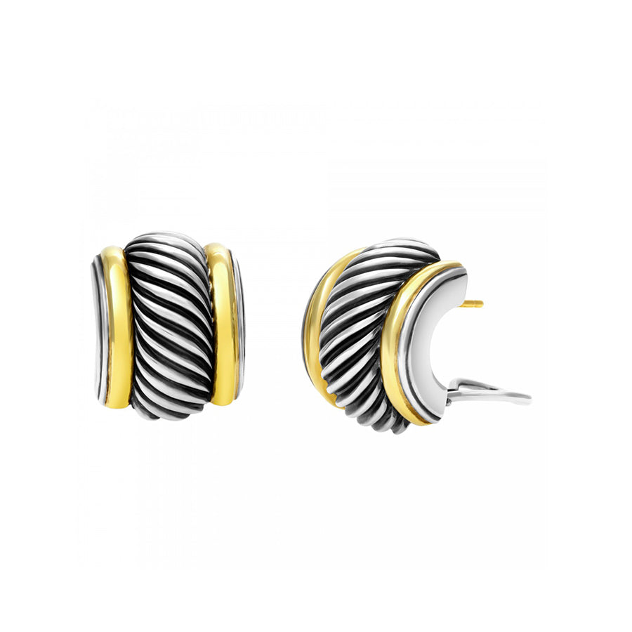 David Yurman Two-Tone Cable Ear-Clips