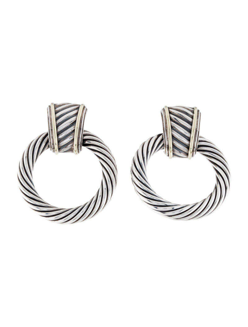 David Yurman Cable Door Knocker earrings