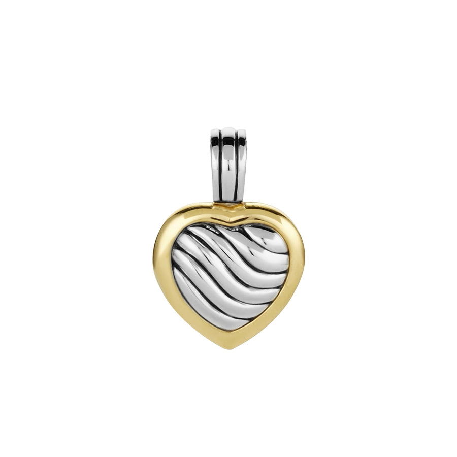 David Yurman Sculpted Cable Heart Locket