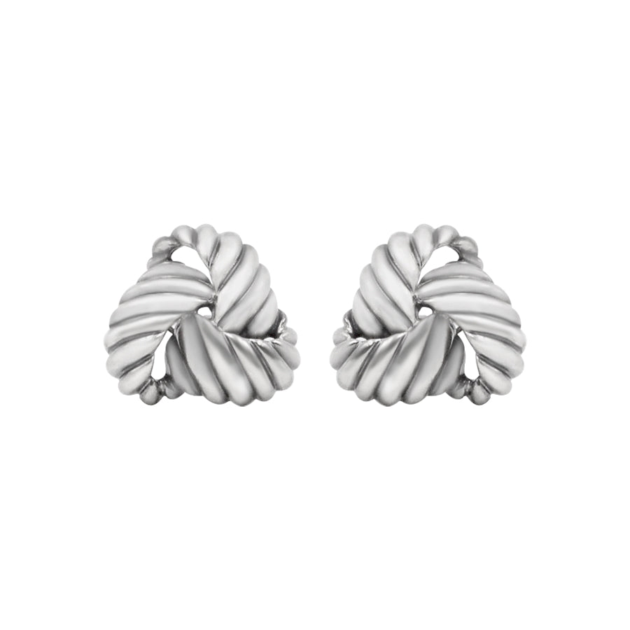 David Yurman Silver Knot Earrings, Clip back