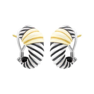 David Yurman Two-Toned Shrimp Earrings Pre-Loved