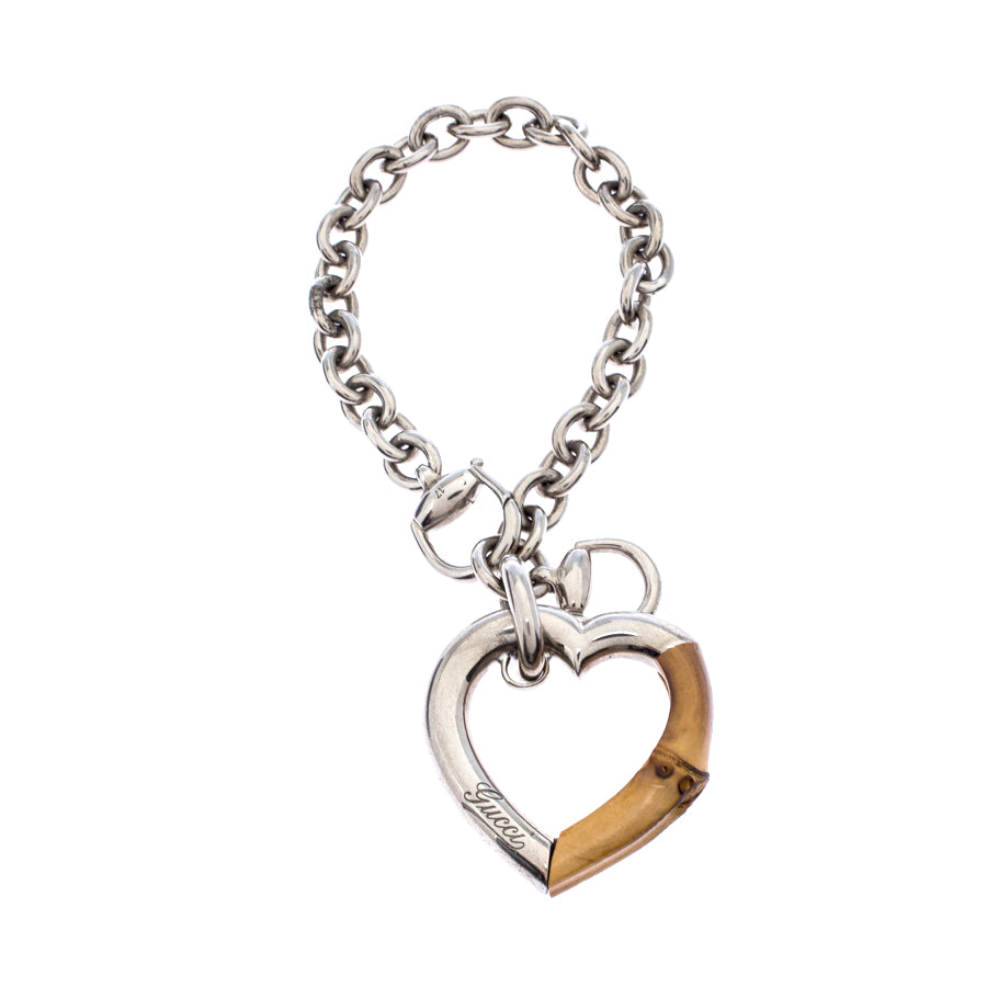Gucci Bamboo Heart Charm Bracelet