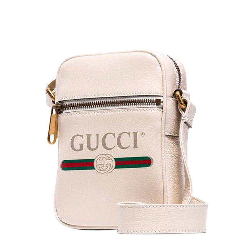 New Gucci Logo Print Messenger Bag