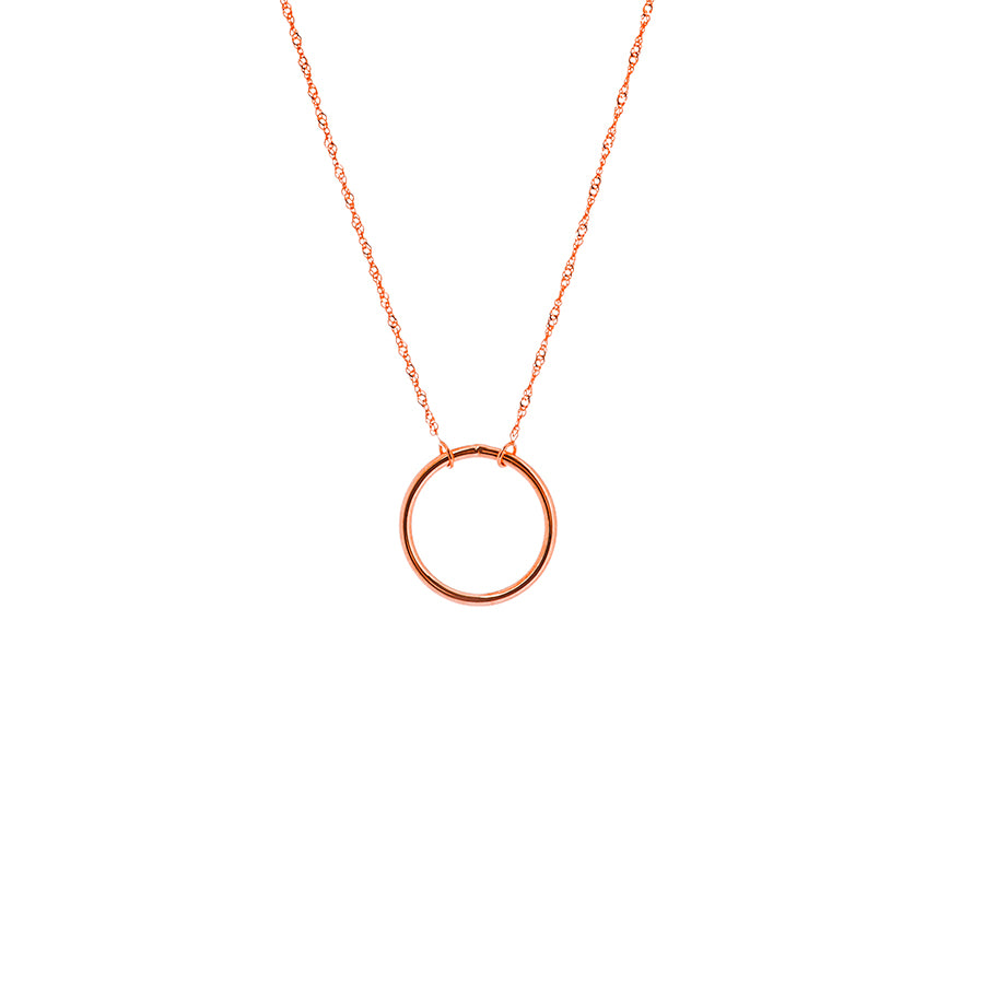 New Rose Gold Open Circle Necklace
