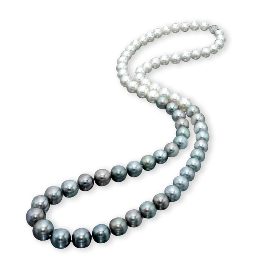 Assael Ombre South Sea and Tahitian Pearl Necklace