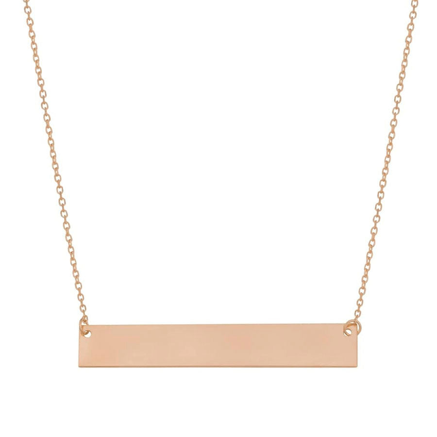 New Rose Gold Engravable Bar Choker Necklace