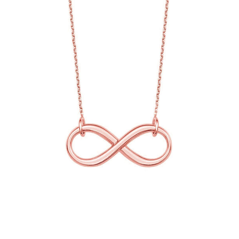 New Rose Gold Infinity Necklace