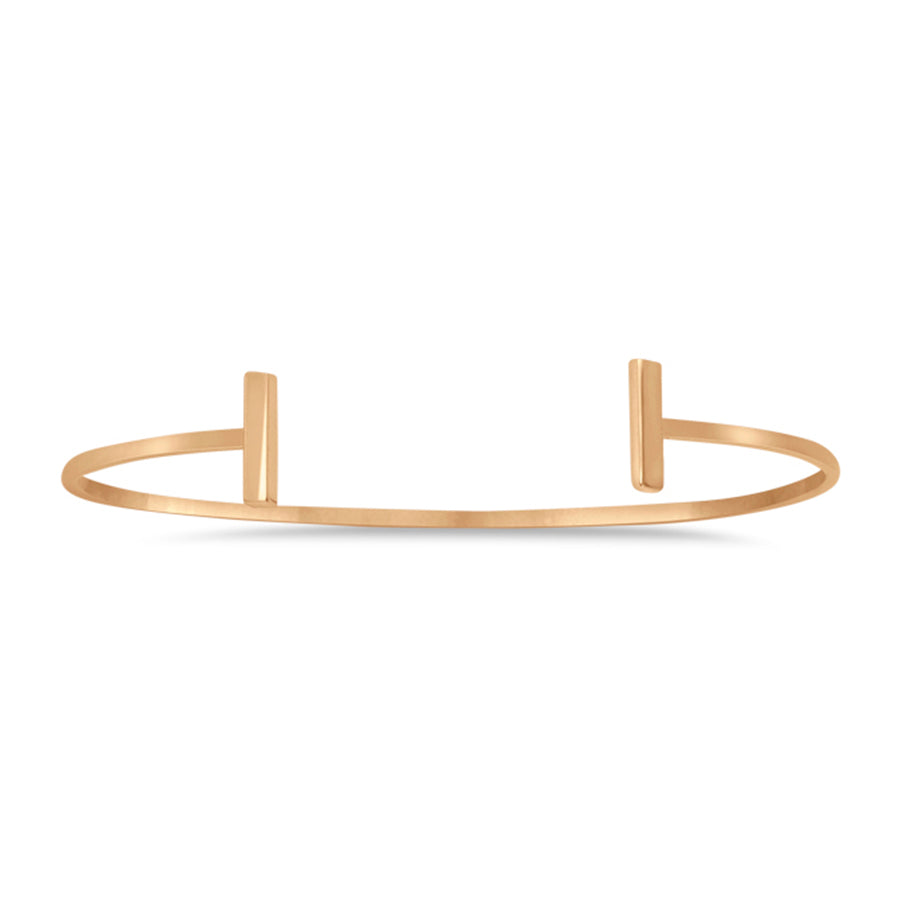 New Rose Gold Staple Bar Cuff Bangle