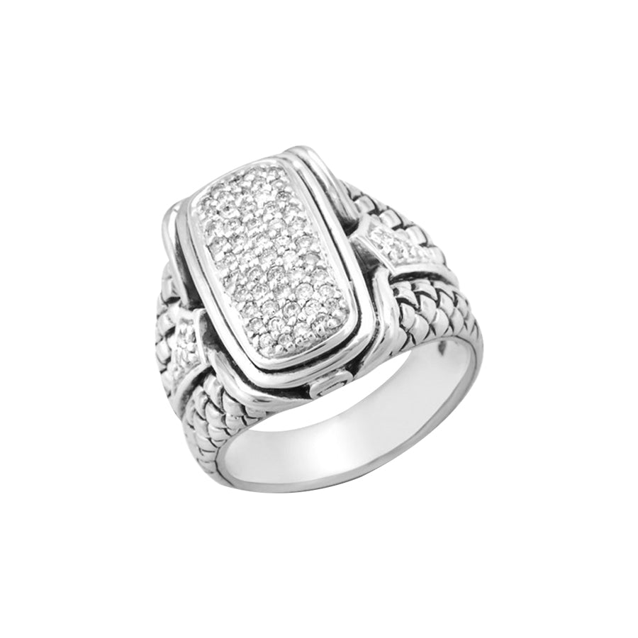 Scott Kay Sterling Silver Diamond Ring