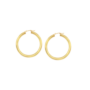 Yellow Gold Polished Hoops 25mm