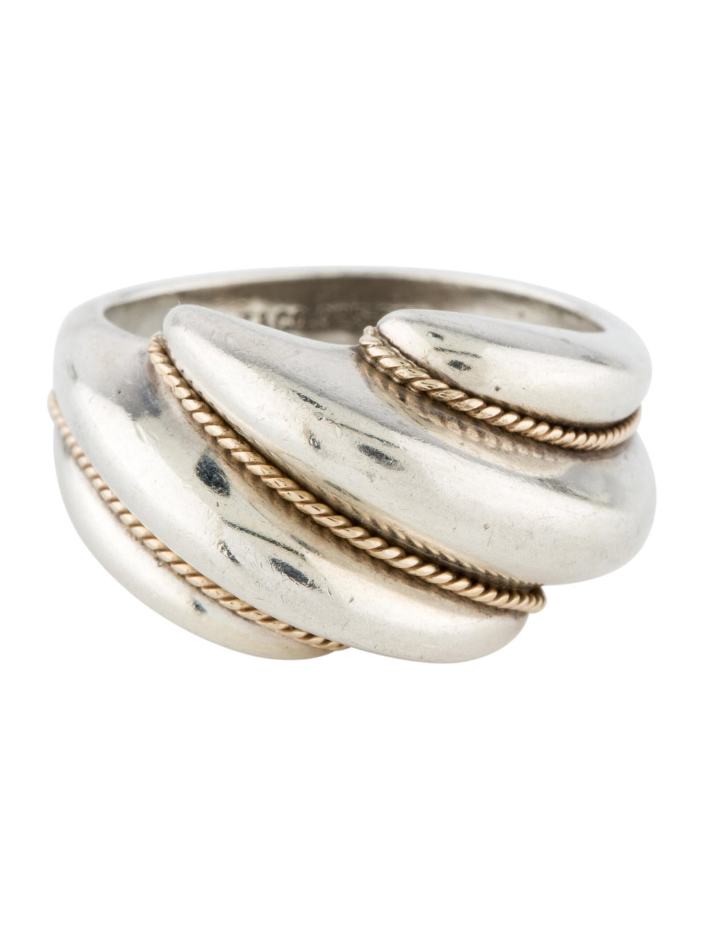 Tiffany & Co. Two-Tone Rope Dome Ring