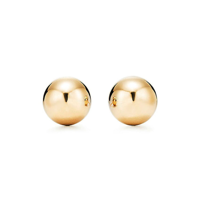 Yellow Gold 7mm Ball Stud Earring