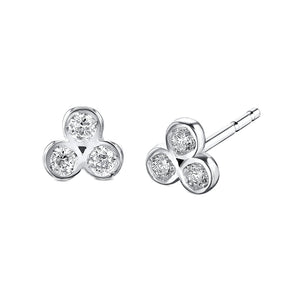 Trinity Diamond Stud Earrings