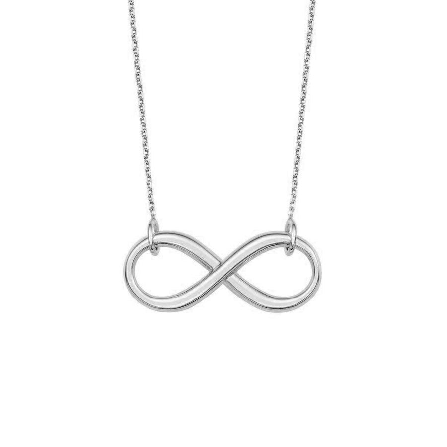 New White Gold Infinity Necklace