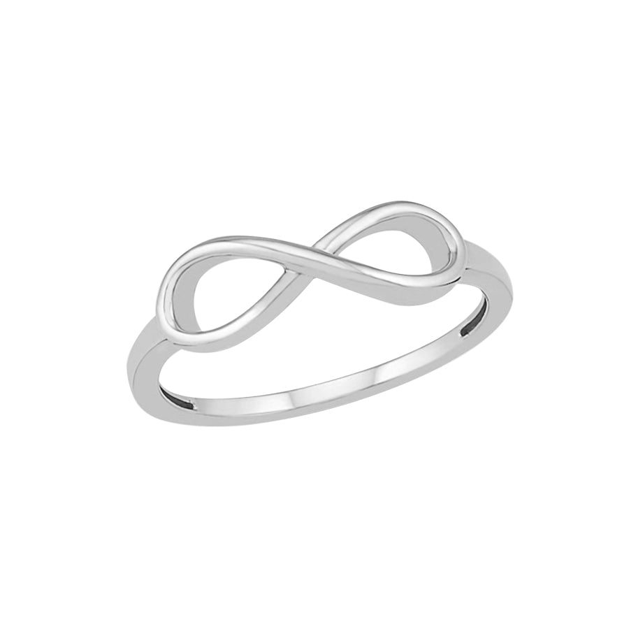 New White Gold Infinity Ring