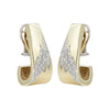 14K Yellow Gold Diamond Drop Earrings with Lightning Bolt Design