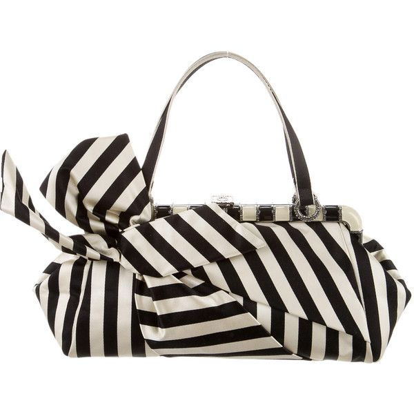 Valentino Satin Striped Handbag Pre-Loved