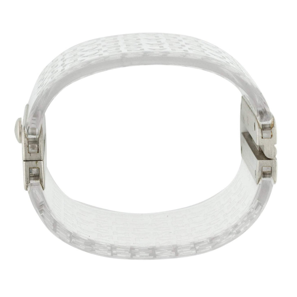 Chanel Logo Wide Clear Resin Cuff