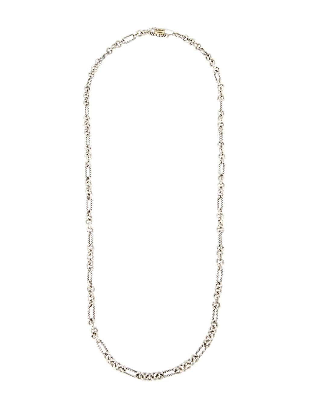 David Yurman Two-Tone Figaro Link Necklace