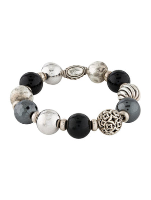 David Yurman Onyx & Hematite Elements Bead Bracelet